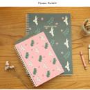 Flower rabbit - Jam Jam wirebound drawing notebook