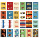Composition of Nacoo Vintage small label sticker set