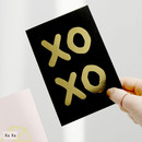 Xo Xo - Ghost pop illustration postcard