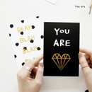 You are - Ghost pop illustration postcard