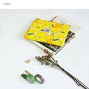 Yellow - Le petit pattern zipper pouch