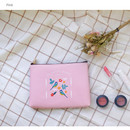 Pink - Le petit pattern zipper pouch