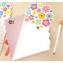 Inside of Flower bouquet letter paper and envelope set