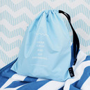 Sky blue 0 Go swimming drawstring waterproof pouch ver.2
