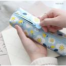 Indi blue - Breezy windy nemo flower pattern pencil case
