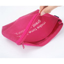 Detail of Life is beautiful travel mesh pouch