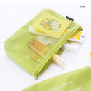 Lime - Life is beautiful travel mesh pouch