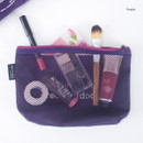 Purple - Life is beautiful travel mesh pouch