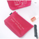 Pink - Life is beautiful travel mesh pouch