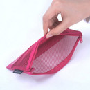 Detail of Life is beautiful travel slim mesh pouch