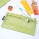 Lime - Life is beautiful travel slim mesh pouch