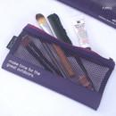 Purple - Life is beautiful travel slim mesh pouch