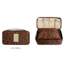 Leo camel - Pattern travel pouch bag for underwear and bra