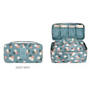 Daisy mint - Pattern travel pouch bag for underwear and bra