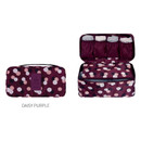 Daisy purple - Pattern travel pouch bag for underwear and bra