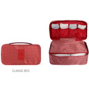 Classic red - Detachable zippered pouch