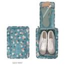 Daisy mint - Pattern travel zip shoes pouch bag ver.3