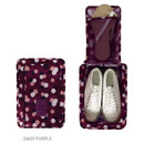 Daisy purple - Pattern travel zip shoes pouch bag ver.3