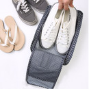 Pattern travel zip shoes pouch bag ver.3
