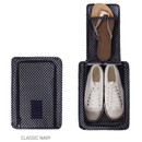 Classic navy - Pattern travel zip shoes pouch bag ver.3