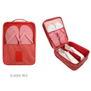 Classic red - Pattern travel shoes mesh pocket pouch