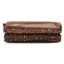 Pattern travel mesh small zipper pouch