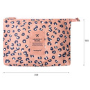 Size of Pattern travel mesh large zipper pouch
