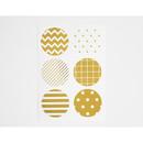 Pattern - Gold circle deco sticker