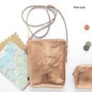 Pink gold - Aurora glitter square crossbody bag