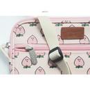 Peach - Jam Jam pattern side messenger bag