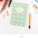 Flamingo - Pour vous melody lined notebook small