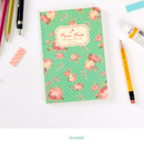 Emerald - Blooming flower pattern lined notebook small