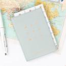 Mint gray - Wannabe pictogram travel RFID blocking passport case