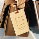 Ivory - Wannabe pictogram travel luggage name tag
