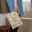 Antique - World map pattern zipper pouch