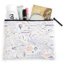World map pattern zipper pouch