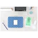 Dot - The Basic cotton denim laptop pouch case 13 inch