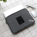 Stripe - The Basic cotton denim laptop pouch case 13 inch