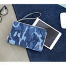The basic denim iPad mini pouch with a hand strap