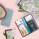 Classy plain RFID blocking long passport case