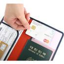 Card slot - Classy plain RFID blocking long passport case