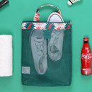 Sparkle green - Coated mesh handy tote bag pouch