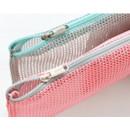Detail of Mesh travel zipper slim pouch ver.2