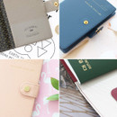 Detail of Snap button RFID blocking passport case