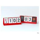 Red - Wirebound flip perpetual desk calendar