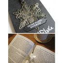 Snowflake silver plated bookmark