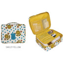Smiley yellow - Merrygrin travel mesh multi pouch bag packing aids