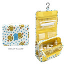 Smiley yellow - Merrygrin travel hanging toiletry pouch bag