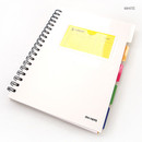 White - Color index wirebound my lined notebook