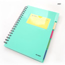 Mint - Color index wirebound my lined notebook